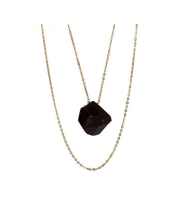 Gigi Chic Black Druzy Geode Pendant Necklace  ($65)