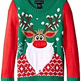 Blizzard Bay Girls' Bearded Rudolph Sweater