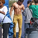 Zac Efron Shirtless on the Set of Dirty Grandpa