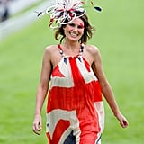 There were lots of Union Jack-themed outfits on Ladies Day!