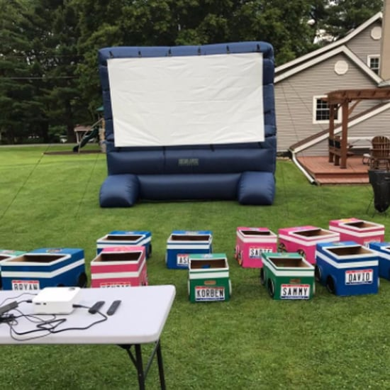 Grandma Makes Drive-In Movie Theater For Grandkids
