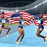 When three American women won gold, silver, and bronze in the women's 100-meter hurdles.