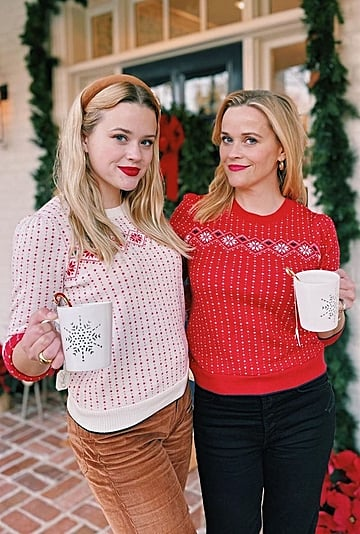 Reese Witherspoon, Ava Phillippe Match in Holiday Sweaters