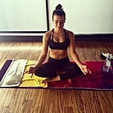 Hot yoga is one of Lea Michele's favorite ways to unwind!