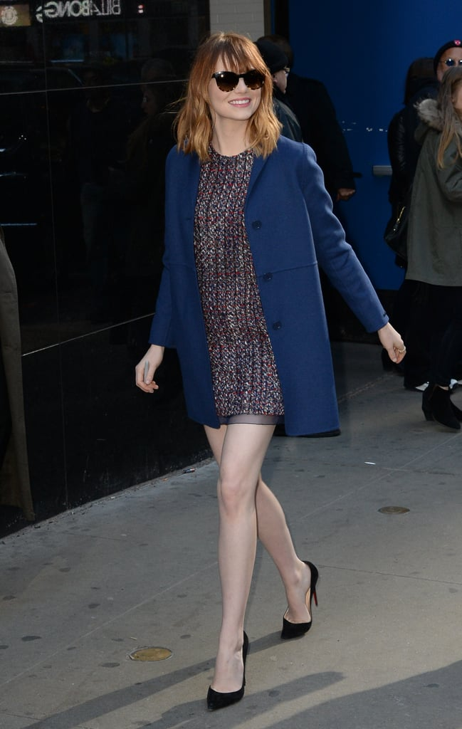 Emma Stone at Good Morning America in 2014