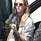 Jessica Alba sported a pair of sunglasses in Beverly Hills.