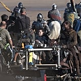 Kristen Stewart wore armor for an intense scene.
