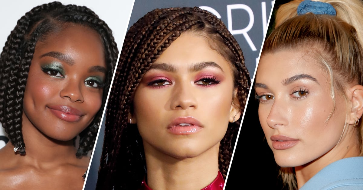 """Graphic Liner, """"Glassy"""" Eyes, Dewy Skin, and More Makeup Trends to Try This Spring.jpg"""