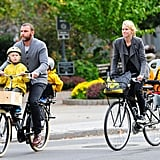 Liev Schreiber and Naomi Watts biked around NYC with their boys.