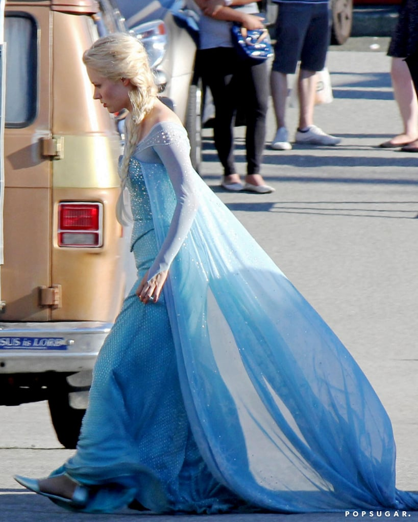 Elsa (Georgina Haig) appeared on set on Wednesday.