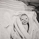 Black and White Photos of a Home Birth