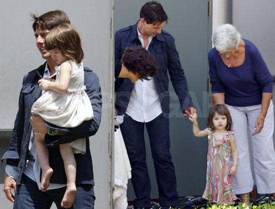 Photos of Celebrity Baby Suri Cruise On Set Of Eli Stone With Tom Cruise and Katie Holmes
