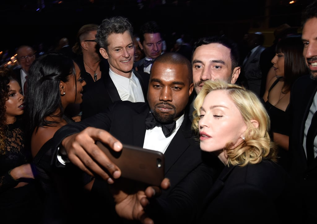 Madonna, Kanye West, and Riccardo Tisci struck a selfie pose at Keep a Child Alive's Black Ball in NYC on Thursday.
