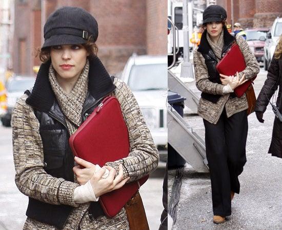 Rachel McAdams Leaving the Set