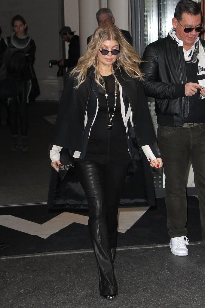 Fergie made her way to a fashion show in Paris on Thursday.