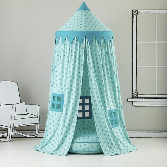 Kids Canopy Teal Polka Dot Play Circus Tent & Kids Canopy: Teal Polka Dot Play Circus Tent | Reading Nooks For ...