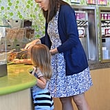 Jennifer Garner and Seraphina Affleck got frozen yogurt.