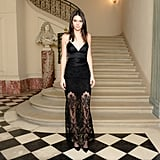 Kendall Chose a Gorgeous Black Gown For the CFDA/Vogue Cocktail Party
