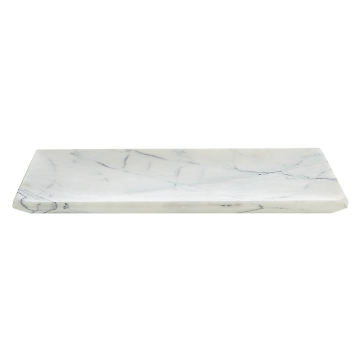 John Lewis White Marble Bathroom Accessories Tray