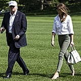 Melania Carrying a Céline Luggage Phantom Bag