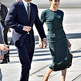 Meghan Markle Green Givenchy Outfit in Ireland 2018