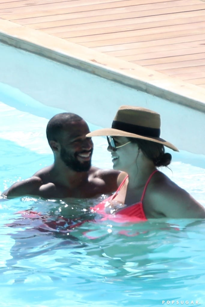 "Ashley Graham has been busy taking the fashion world by storm, but on Sunday, the 30-year-old model squeezed in some quality time with her husband, Justin Ervin. After Ashley walked in Dolce & Gabbana's Alta Moda fashion show in Italy over the weekend, the couple enjoyed some relaxing pool time at the Casta Diva hotel. The pair — who will be celebrating eight years of marriage in August — were as cute as could be as they shared a few laughs and cuddled up to each other. Ashley also shared photos from their trip on Instagram, and that same day, she posted a clip of her and Justin kissing with fireworks going off in the background. So romantic!  Ashley and Justin first met at a church in NYC, and they tied the knot in August 2010. So, what's the secret to their happy marriage? ""We don't go longer than two weeks without seeing each other,"" Ashley told ET back in 2016. ""It's absolutely fabulous. I love it. We just meet in LA or New York. We meet in Paris, Miami. It's pretty sexy."" Happy early anniversary, Ashley and Justin!      Related:                                                                                                           Ashley Graham's Romance With Her Husband Is Just as Sexy as Her Bikini Snaps"