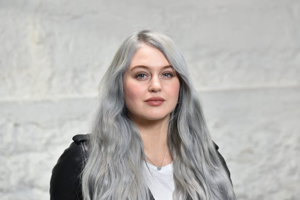 Iskra Lawrence's Silver Gray Hair January 2019