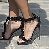 Alaïa heels were made for showing off outside the shows.