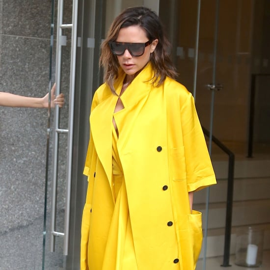 Victoria Beckham Wearing Yellow June 2016