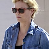 Charlize Theron sported shades in LA.