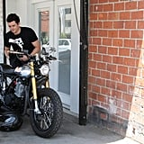Orlando Bloom took his bike for a ride.