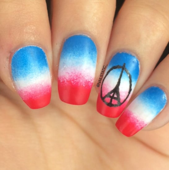 Pray For Paris Nail Art