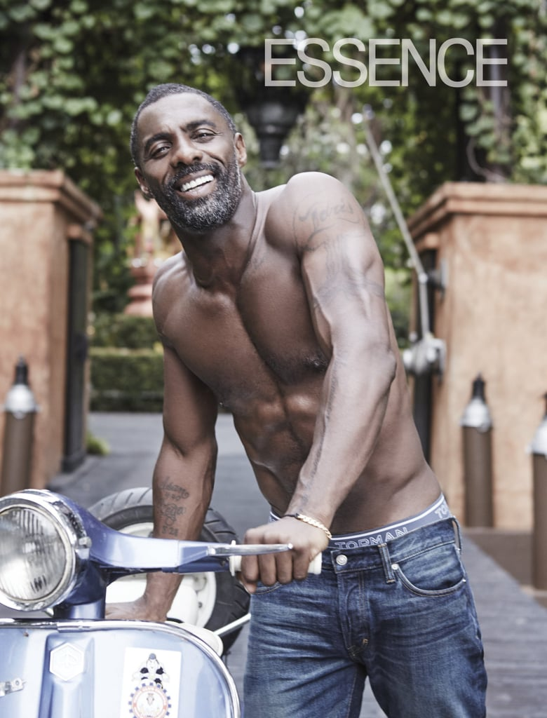 We can all agree that Idris Elba is one very attractive man. While he definitely looks dapper in a suit, we're a bit partial to his shirtless moments. Whether he's shedding his clothes for a role or he's hitting the gym, we can't help but get a little weak in the knees anytime he shows off that beautiful, bare chest. See his best shirtless pictures ahead.       Related:                                                                                                           19 Painfully Hot Reasons You've Fallen in Love With Idris Elba