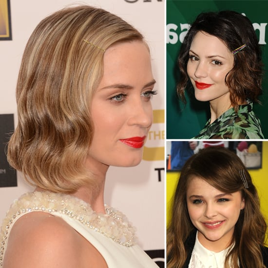 Celebrity Hair Trends Cool Bobby Pins Like Emily Blunt Popsugar Beauty Australia