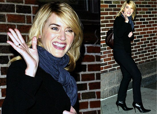 Photos Of Kate Winslet At David Letterman In New York City