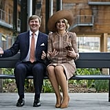 King Willem-Alexander and Queen Máxima at the Halle Pajol youth hostel in Paris.