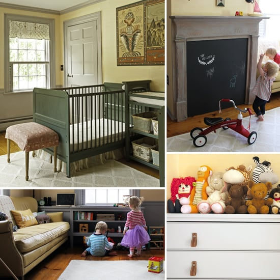 An Antique-y Nursery For Two (With a Fireplace Just For Kids)