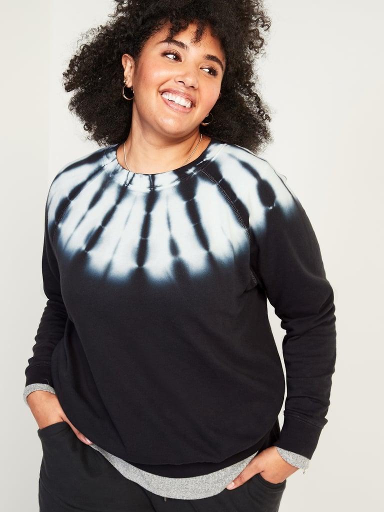 Tie-Dyed Vintage Crew-Neck Plus-Size Sweatshirt