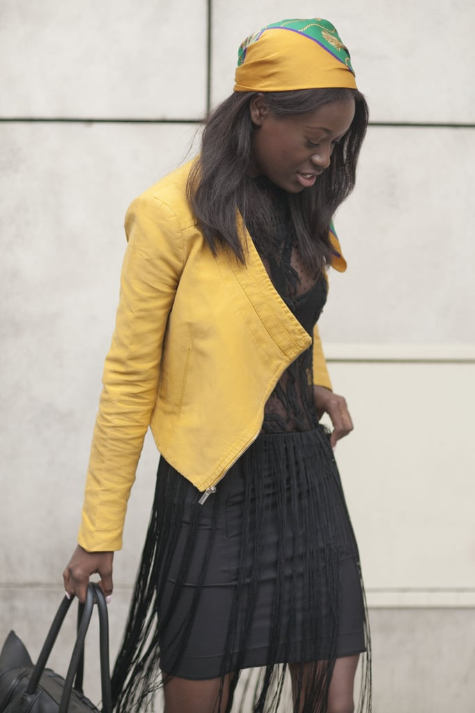 A shot of yellow to spice up a little sheer black.