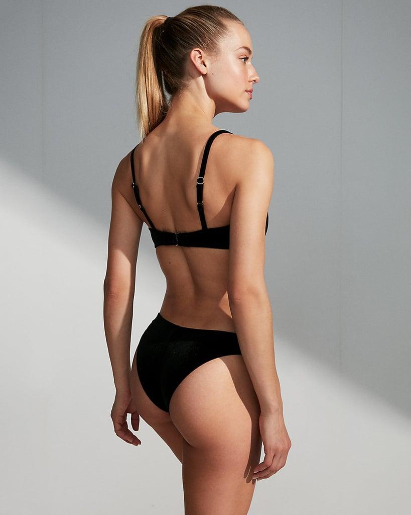 The high cut of the Express Velvet Cheeky Bikini Bottom ...