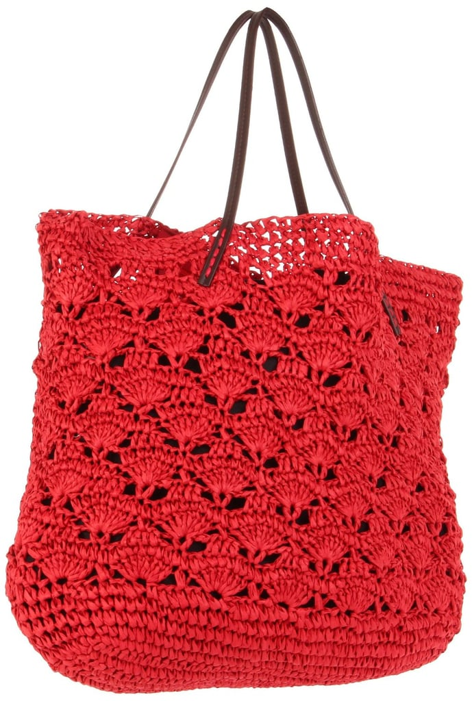 In a bright, tomato-red shade, this classic crochet tote looks fresh for Summer.  Michael Stars Lace Crochet Tote ($98)