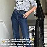 Victoria Beckham Slogan Sweatshirt
