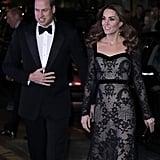 Kate Middleton Stuns in Sheer Black Alexander McQueen Gown