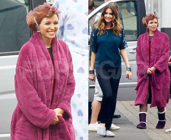 Pictures of Dannii Minogue Filming M&S Christmas Ad With Lisa Snowdon