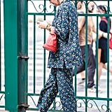 Don't Overcomplicate a Kooky-Printed Suit; Just Add Slides