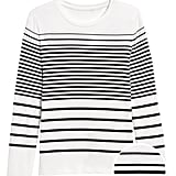Stripe Ribbed Crew-Neck T-Shirt