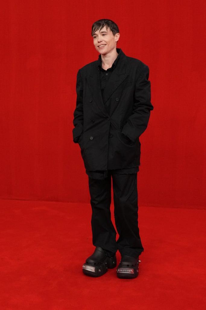 Elliot Page Wears Platform Crocs on Balenciaga Red Carpet