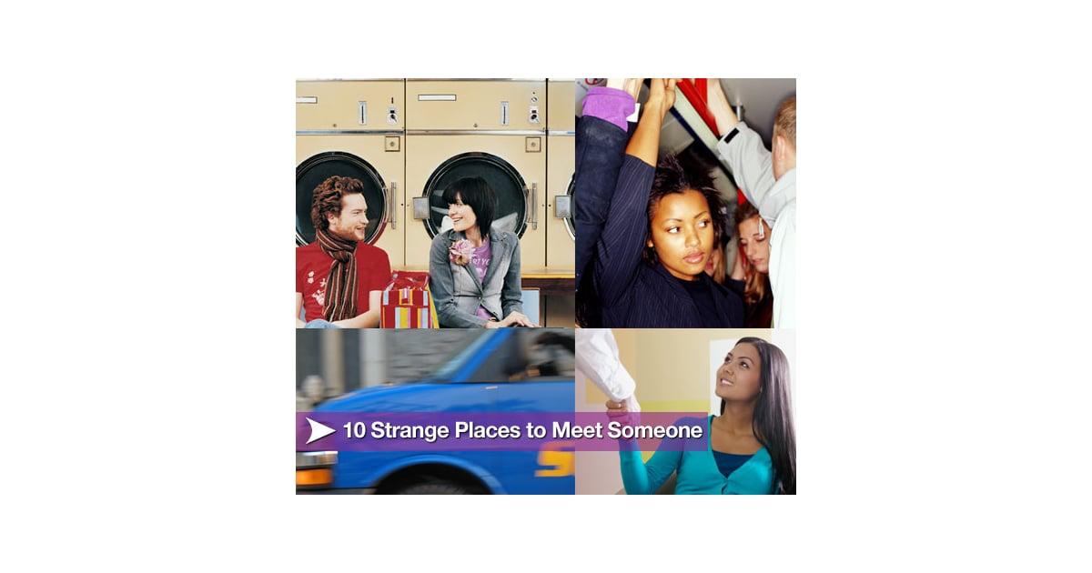 strange places to meet someone