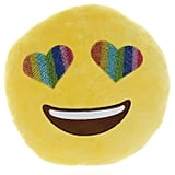 Top Trenz Inc Emojicon Round Blingy Rainbow Eyes Pillow