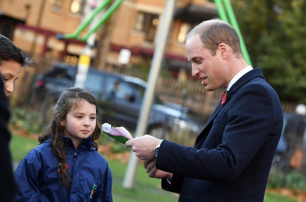 Prince William Gardening With Kids in London November 2016